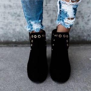 Shoes - 🥇🏅  Suede Grommet Booties